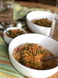 Bean Soup with Lemon Parsley Breadcrumbs