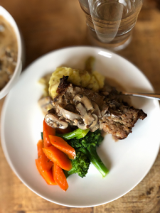 Meatloaf with Mushroom Cream Sauce