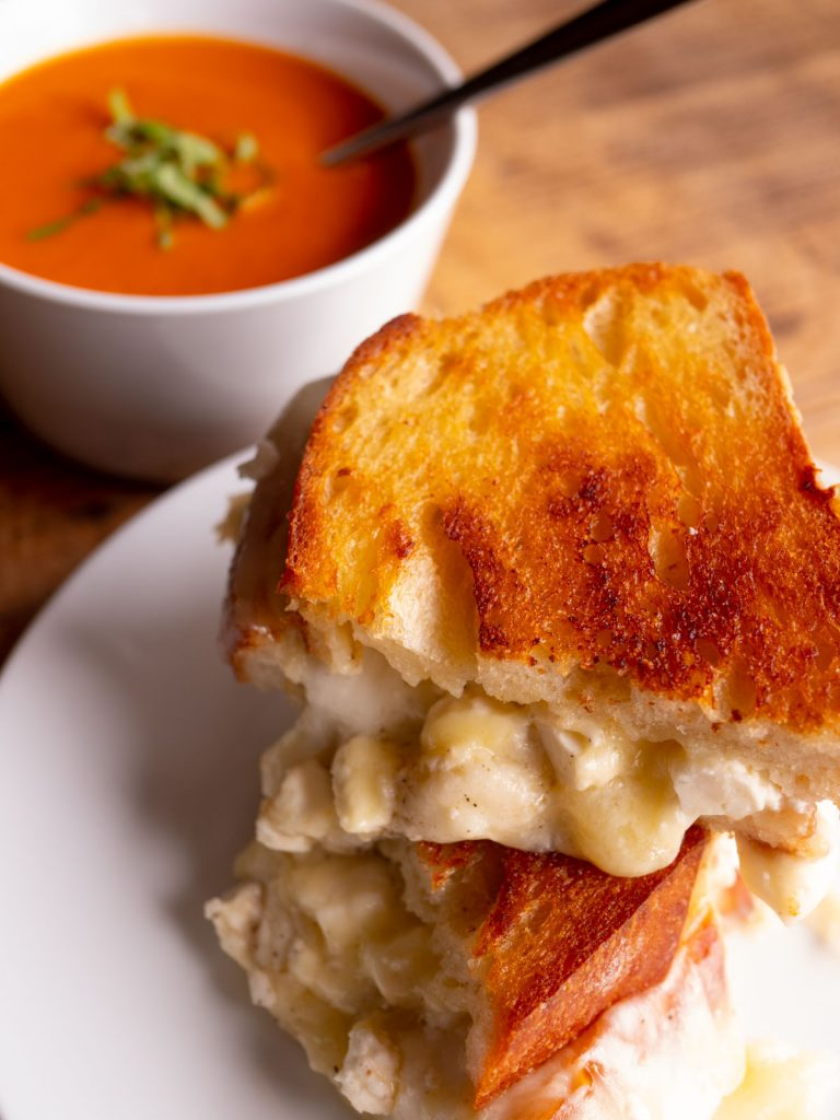 Off-the-hook Grilled Cheese & Tomato Soup